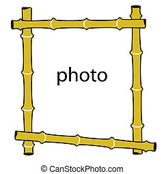picture frame made of bamboo