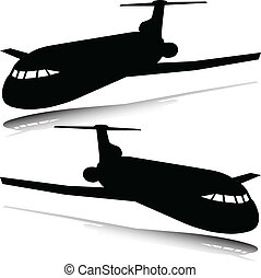 plane vector silhouettes