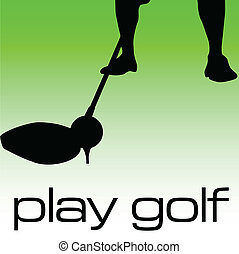 play golf illustration
