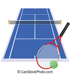 play tennis on blue court