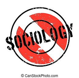 Sociology rubber stamp. Grunge design with dust scratches....