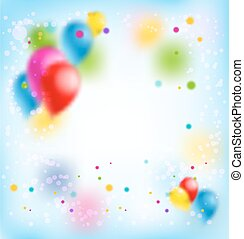 Blur happy birthday banner - Holiday template for design...