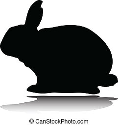 rabbit vector silhouettes