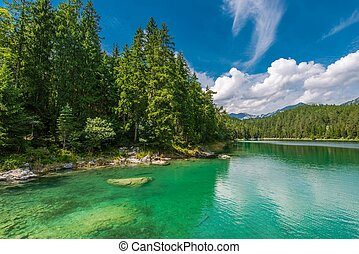Eibsee Lake in Bavaria Germany - Scenic Eibsee Lake in...