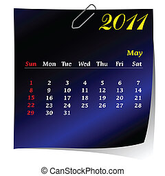 reminder calendar for May 2011