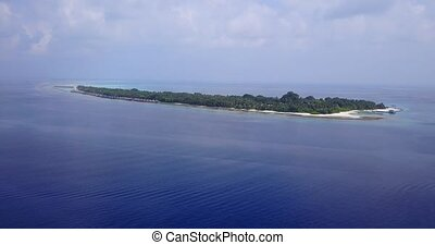 v05669 Aerial flying drone view of Maldives white sandy...