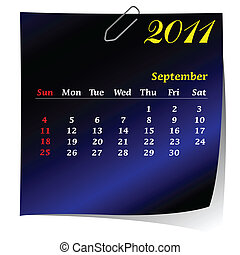 reminder calendar for September