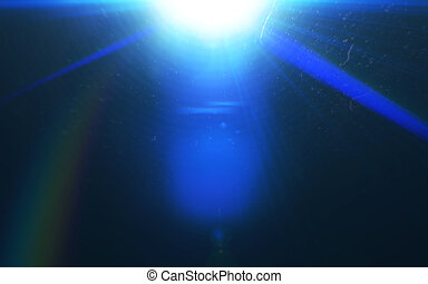 Abstract galactic space scape background with distant stars.Beautiful lens flare effect.Colorful digital lens flare.Sun light effect.