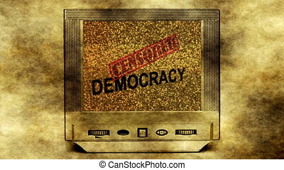 Censored democracy concept