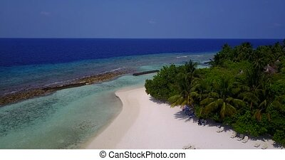 v05916 Aerial flying drone view of Maldives white sandy...