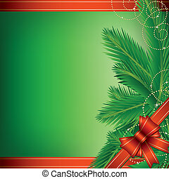 background, border, bow, branch, c - Christmas background...
