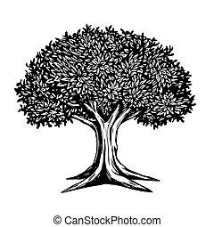 Tree Vector Illustration Logo Template - Tree Vector...