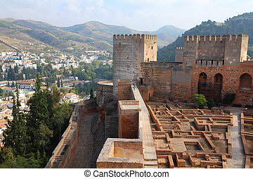 Alhambra, Granada - Granada in Andalusia region of Spain....