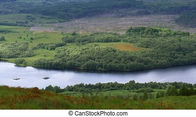 Glen Garry Viewpoint, Scotland - Graded Version - Graded and...