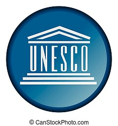 Isolated flag button of unesco on a white background, vector...
