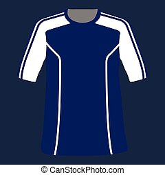 Isolated sport shirt on a blue background, Vector...