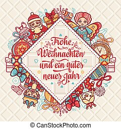 Frohe Weihnacht. Xmas Congratulations in Germany - Frohe...