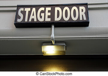 Stage door - Entrance for performers in London's West End
