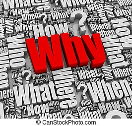 Why? - Group of 3D words. Part of a series.