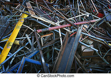 Large Pile of Sorted Scrap Metal - A large pile of sorted,...