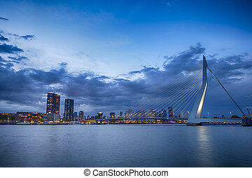 Travel Concepts and Ideas. Picturesque View of Erasmusbrug...