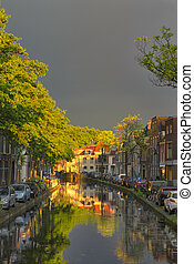 Travel Concepts and Ideas. Traditional Dutch Channels...
