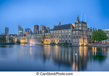Binnenhof Palace of Parliament inThe Hague in The...