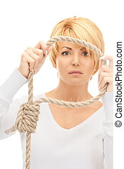 business woman with the noose