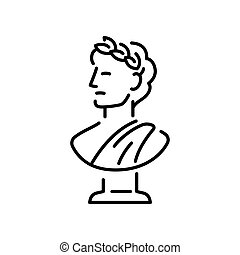 Greek bust sculpture - Ancient Greek bust sculpture with...