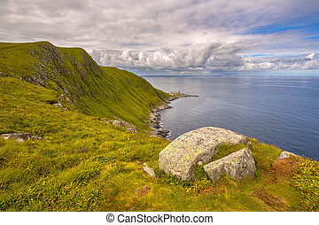 view of northcape of Runde Fyr island nature reserve in More...
