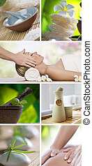 spa list - Spa theme photo collage composed of different...