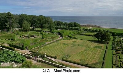 Dunrobin Castle Gardens, Scotland- Ungraded Version -...