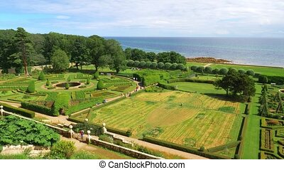 Dunrobin Castle Gardens, Scotland - Graded Version - Graded...