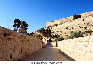 Kidron Valley - View from the Kidron Valley on the Walls of...