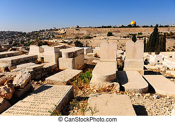 Jewish Cemetery - View from Ancient Jewish Cemetery to Walls...