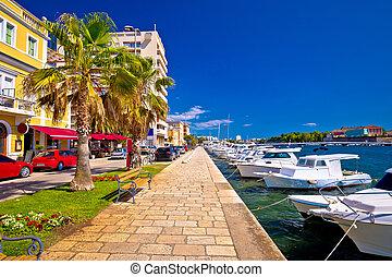 Town of Zadar waterfront view, Dalmatia, Croatia