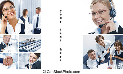 fragments - Business theme photo collage composed of...