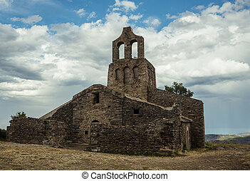 Santa Helena church in the North East of Catalonia, Spain