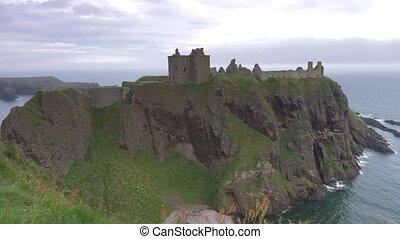 -, schottland, unberührt, version, dunnottar castle
