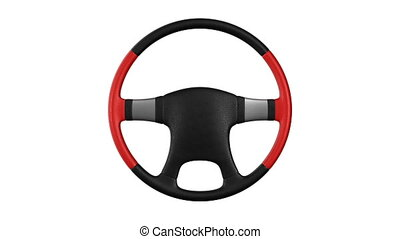 Steering wheel on white background. Isolated 3D render