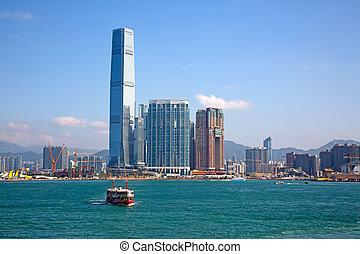 """Hong Kong ferry - HONG KONG - APRIL 2: Ferry """"Night star""""..."""