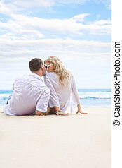 couple - Portrait of young nice couple having good time on...