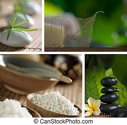 fragments - Close up view of spa theme objects on natural...