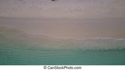 v05369 Aerial flying drone view of Maldives white sandy...