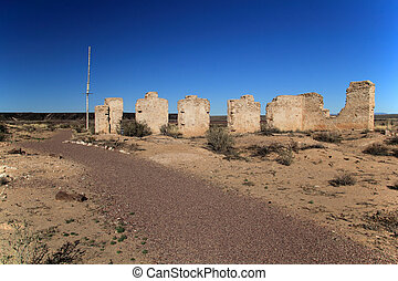Commanding Officers Quarters Ruins - Southwest, New Mexico,...
