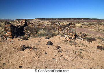 Guard House Ruins - Southwest, New Mexico, Fort Craig Guard...