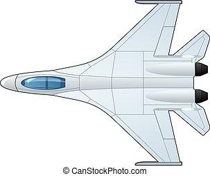 illustration of fighter - illustration of a pursuit plane....