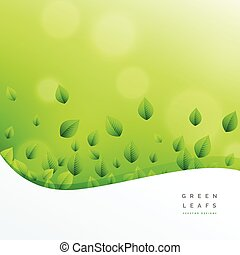 ecofriendly nature green leaf vector background