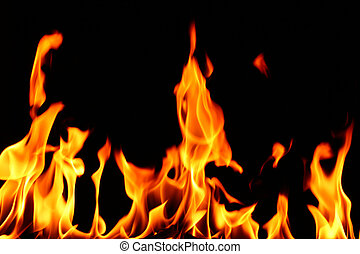 fire flame - fire on black close up abstract background