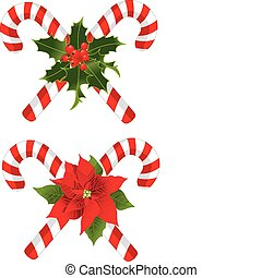 Christmas candy cane - Two Christmas candy cane decorated...